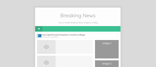 How to Install Breaking News Widgets on Blog
