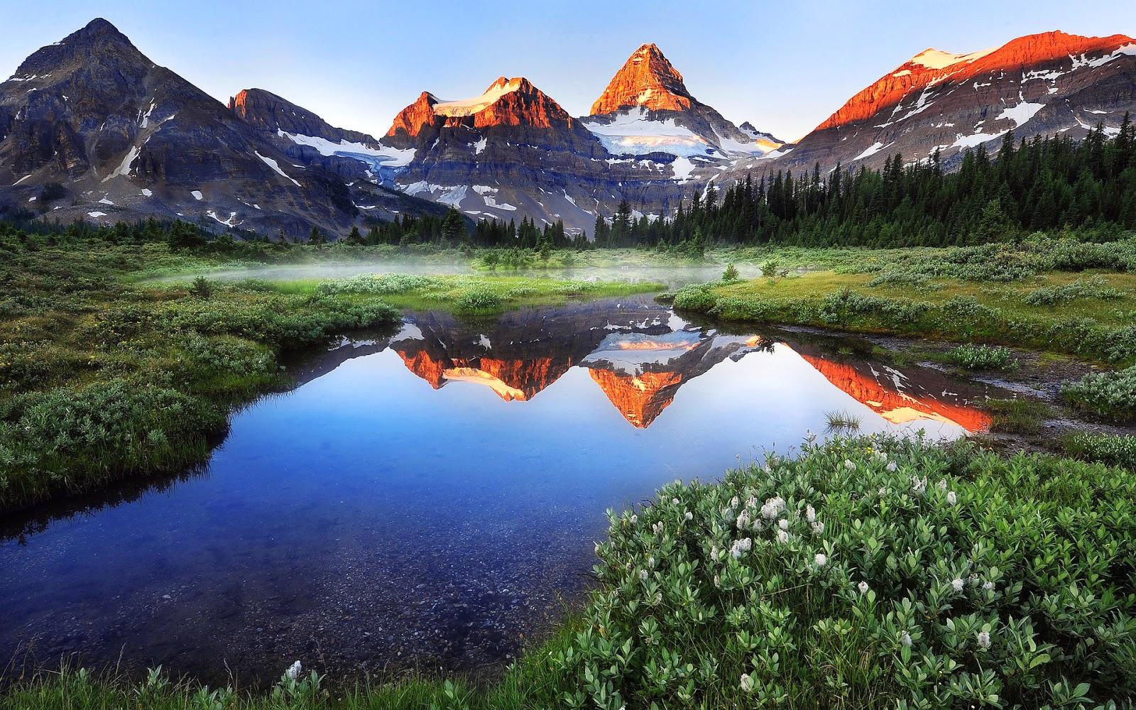 Lago Con Montañas Nevadas Hd: BANCO DE IMÁGENES: Lago Junto A Las Montañas Nevadas