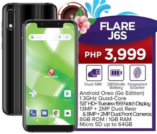 Cherry Mobile Flare J6S Specs, Price