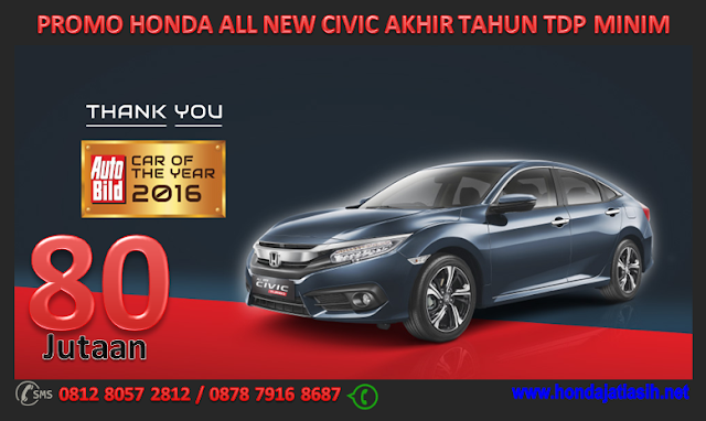 PROMO HONDA ALL NEW CIVIC AKHIR TAHUN TDP MINIM