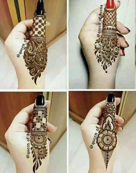 Simple Fingers Mehndi Designs