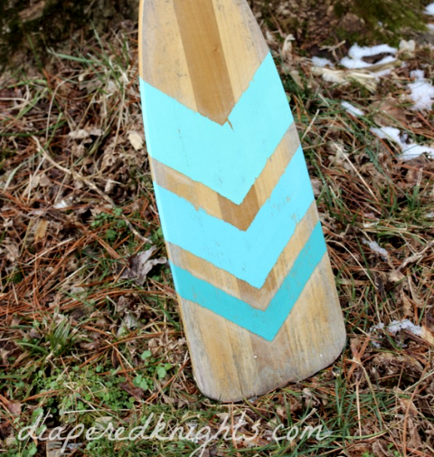 painted oar in Chevron