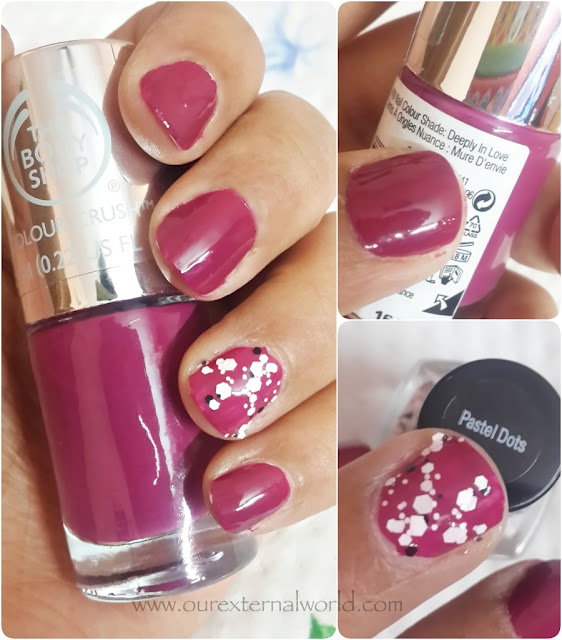 The Body Shop Colour Crush And Other Polish Swatches, Deeply In Love, Pastel Dots from H&M