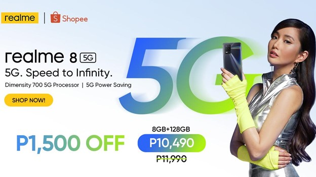 realme 8 5G available first on Shopee on June 25