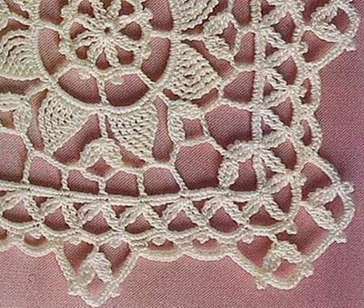 doily tablecloth Crochet edge no:6