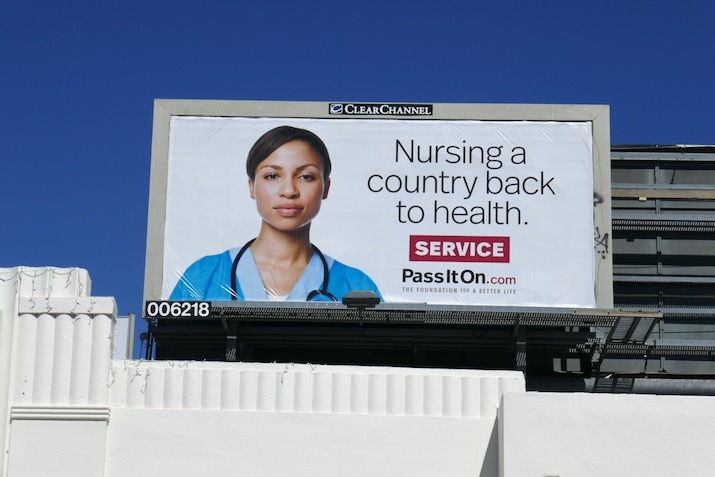 Nursing a country back to health Service billboard