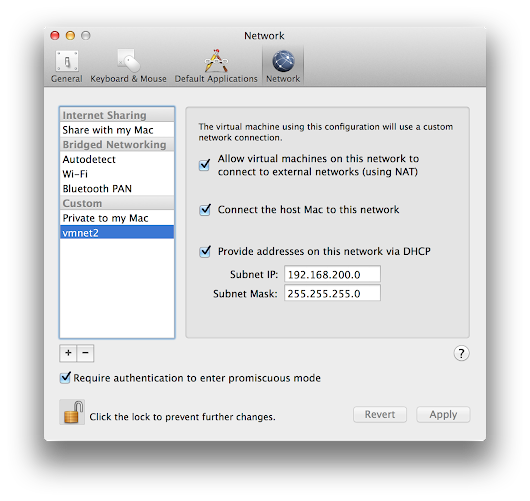 Creating a static private network on VMWare Fusion with Ubuntu