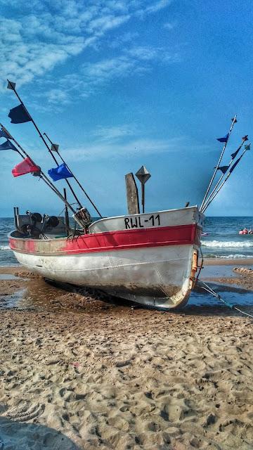 kutry na plaży Rewal,