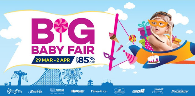 Promosi Barang Bayi Diskaun 85% Di Lazada Big Baby Fair