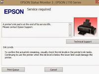 Cara Reset Epson L110, L210 L300, L350, L355 Menggunakan Resetter