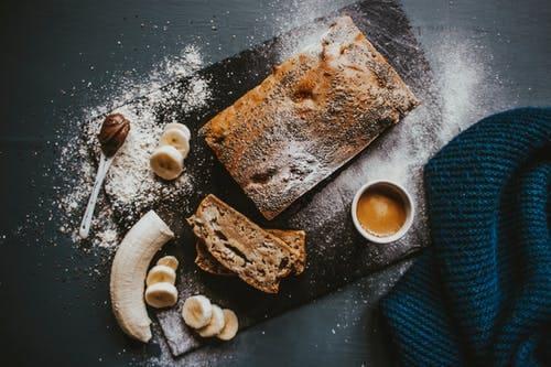 Cold chocolate banana cake