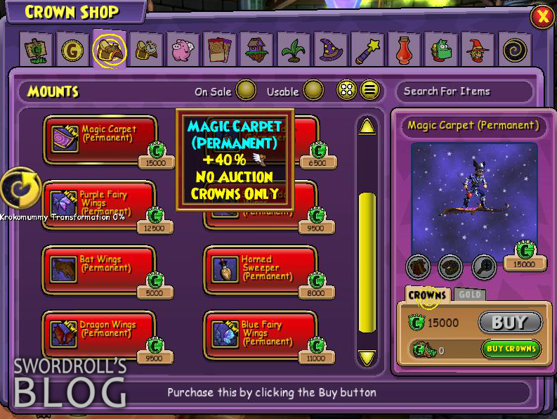 Wizard101 UK Crown Shop and Tournament Updates and New Grub Guardian
