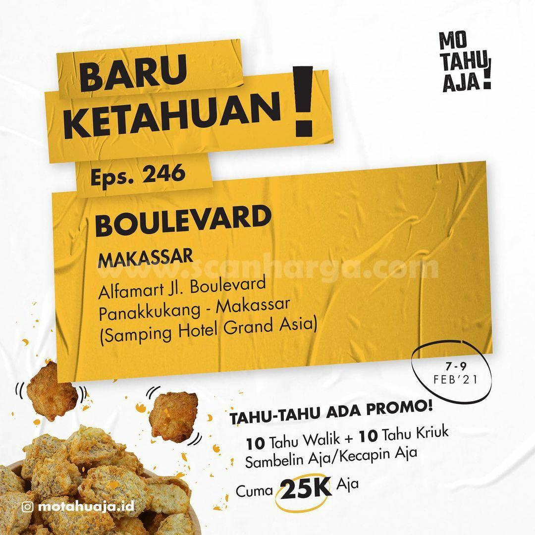Mo Tahu Aja Boulevard Makassar Opening Promo Paket 20 Tahu cuma Rp 20.000