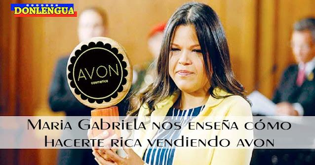 Manual para vender AVON y hacerse millonario como Maria Gabriela Chavez