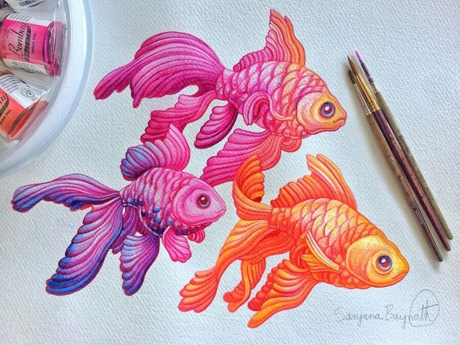 07-A-trio-of-goldfish-Sanjana B-www-designstack-co