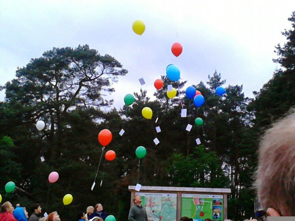 ballon platzen lassen