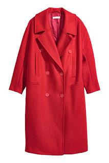 Manteau en laine rouge H&M