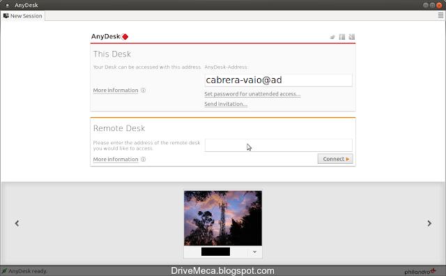 DriveMeca instalando AnyDesk en Linux