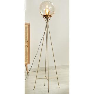 lampara de pie para el salon rustico