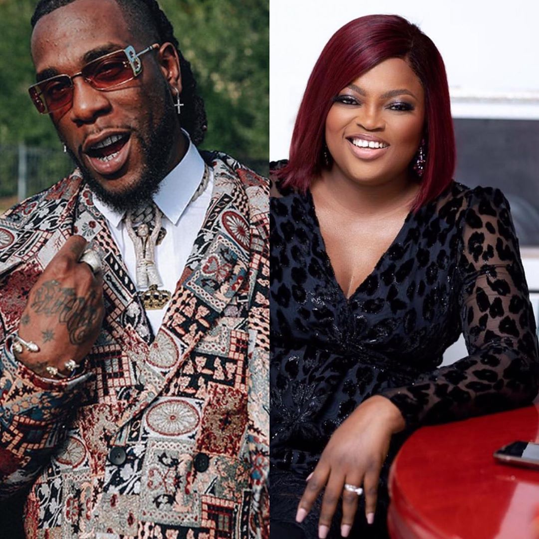 Burna Boy and Funke Akindele