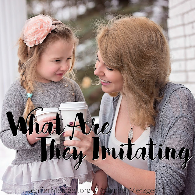 Since our kids, even the little ones, mock what they see and hear, why not let them see and hear Jesus? #family #children #parenting #motherhood