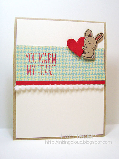 You Warm My Heart card-designed by Lori Tecler/Inking Aloud-stamps and dies from Lawn Fawn