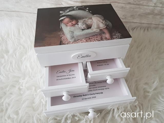 szkatułka na chrzest