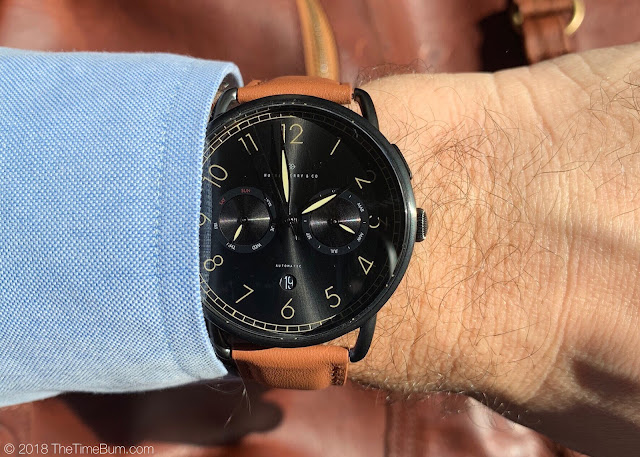 Huckleberry & Co. Bakewell Black Edition wrist shot