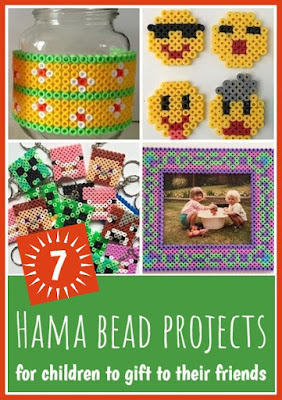 Hama bead projects to gift to friends