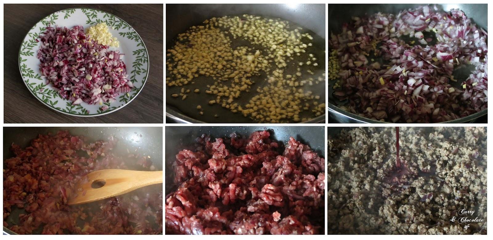 Preparando la carne