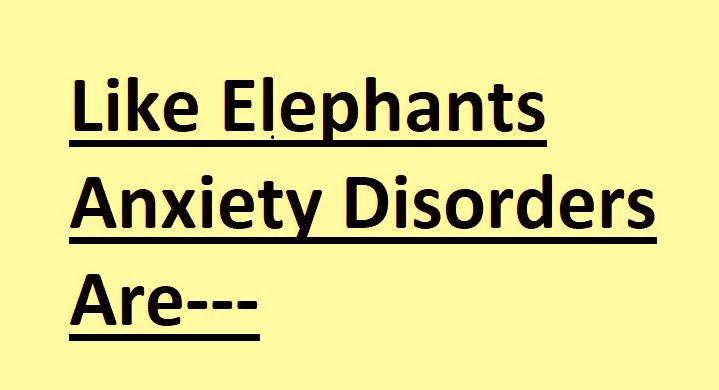 Understanding Anxiety Disorders Just Like   Elephants: