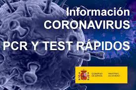 TEST PCR Y PRUEBAS RÁPIDAS PARA DETECTAR CORONAVIRUS