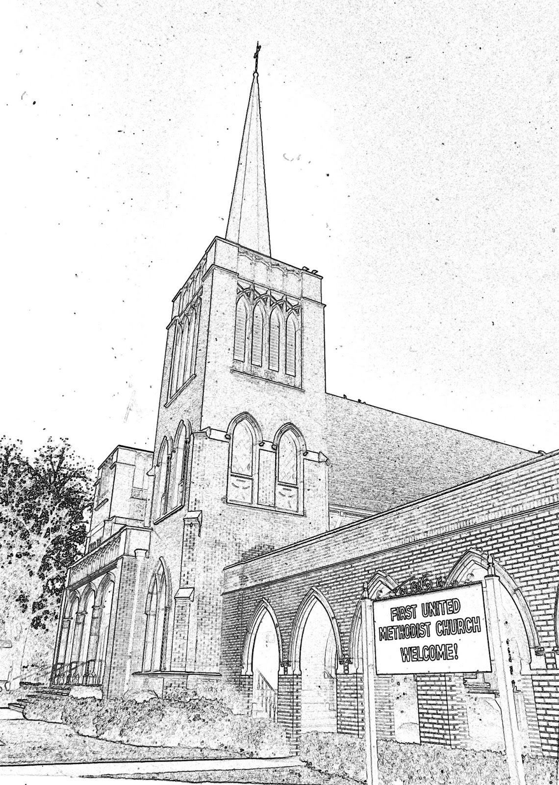 Images of our past sketches of some downtown churches dublin georgia