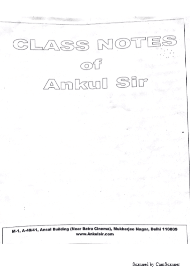 Class-Notes-of-Ankul-Sir-For-All-Competitive-Exam-PDF-Book