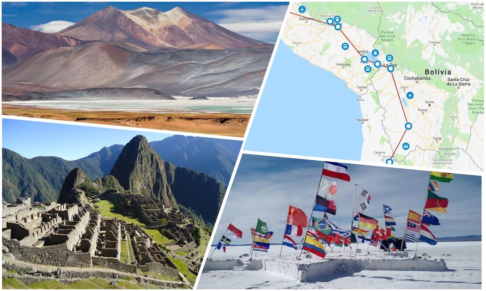 Roteiro de 19 dias por Peru, Bolívia e Chile