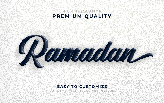 Ramadan 3D Text Effect Generator And Text Style Effect