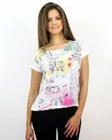 Tricou cu Imprimeu Colorat