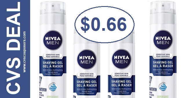 Nivea Men's Shave Gel CVS Deal $0.66 - 7/21-7/27