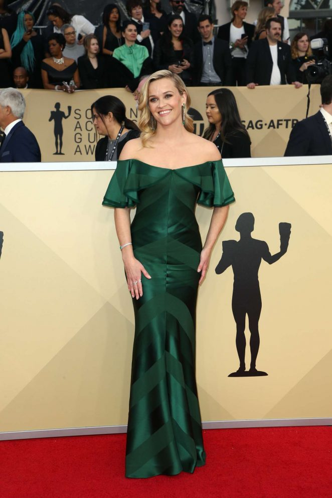 Reese Witherspoon is a diva in Zac Posen at the 2018 SAG Awards