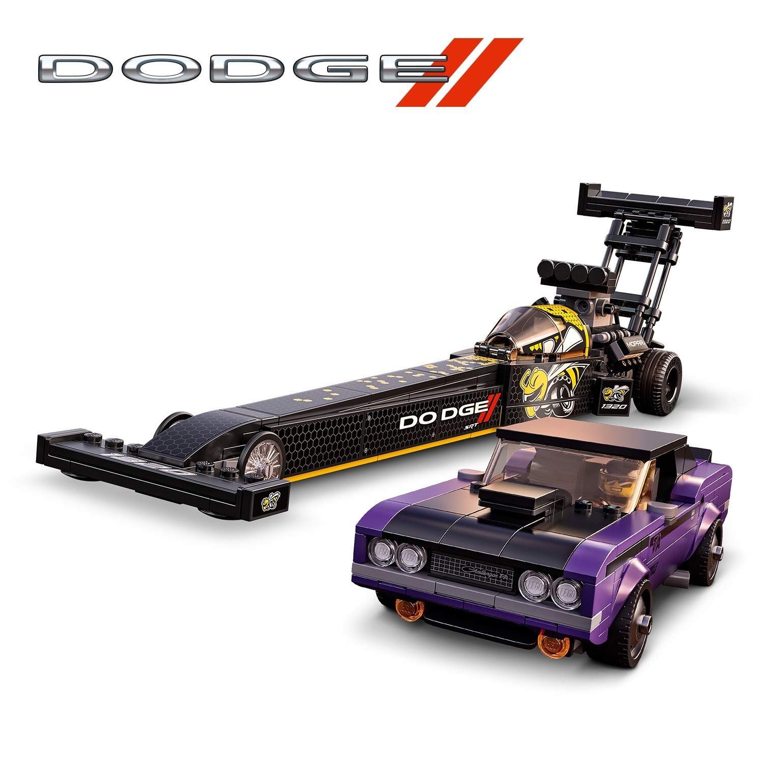 Dodge and LEGO team up for new building set featuring a 1970 Dodge Charger T/A and a Top Fuel Dragster