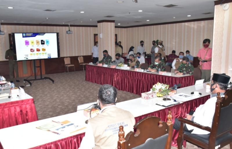 Danlantamal IV Tanjungpinang Hadiri Rakor Percepatan Penanganan Covid-19 di Batam