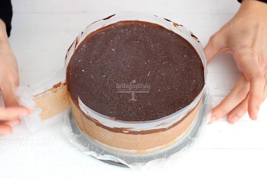 Receta Tarta mousse de chocolate