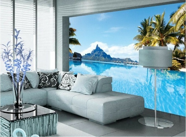 Awesome wallpaper ideas for small living room design 2016