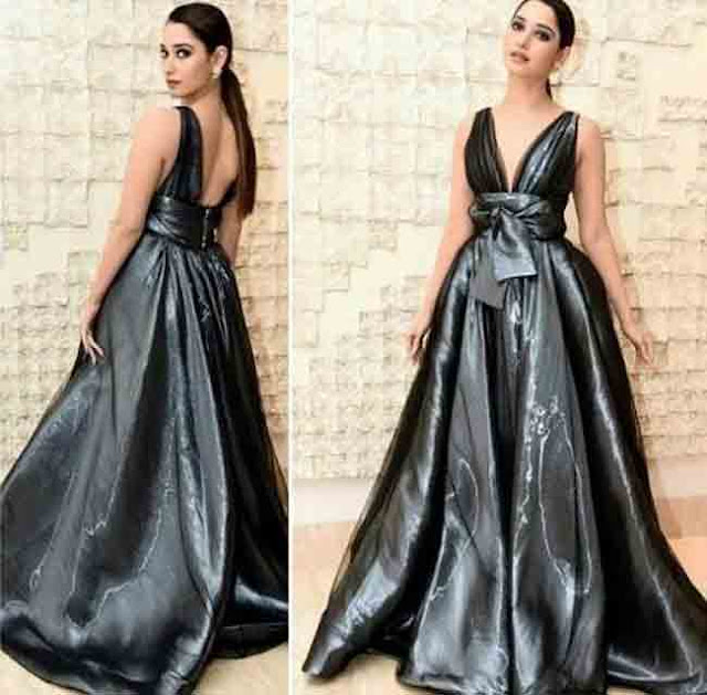 tamanna dazzles in metallic Dress