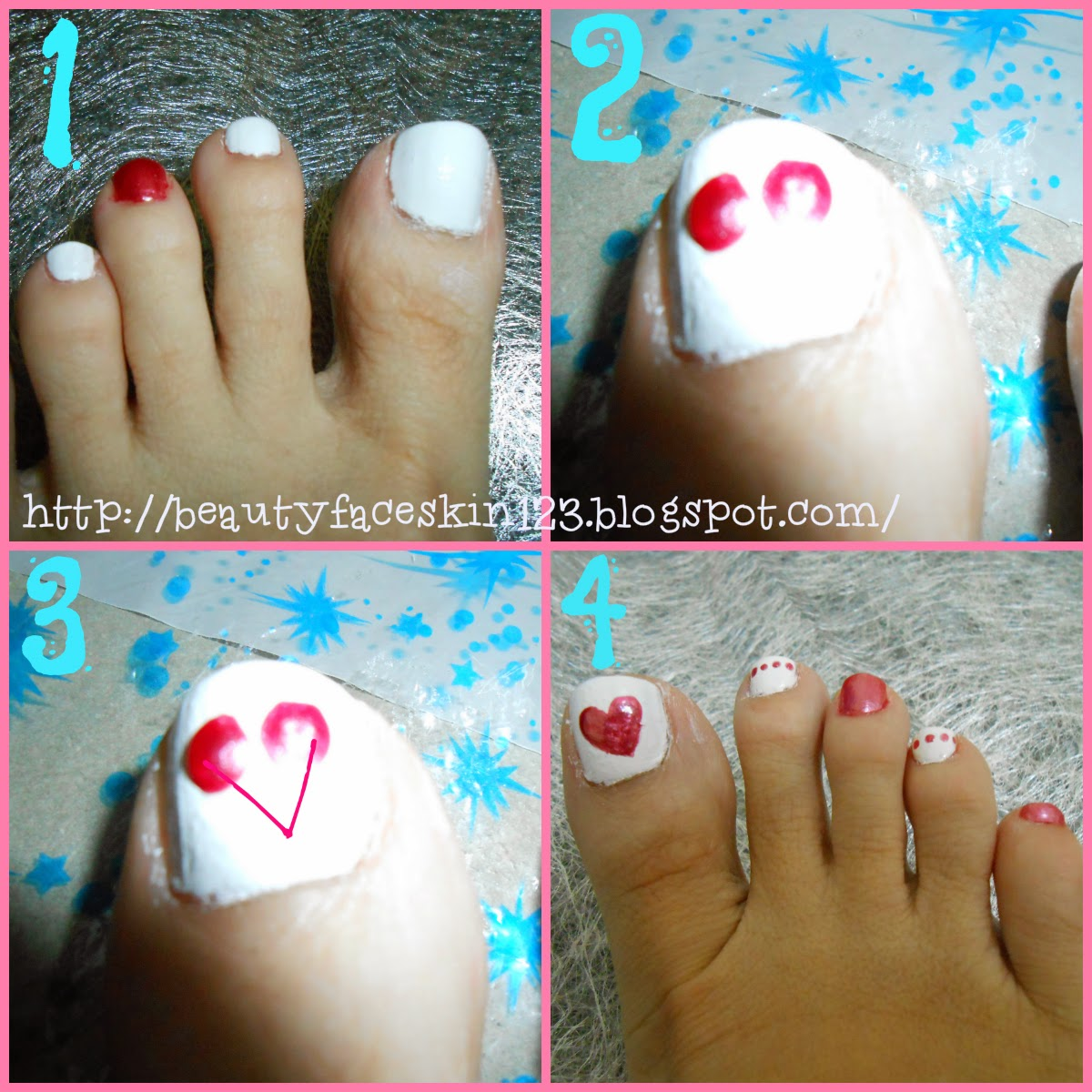NAIL TUTORIAL- SIMPLE HEART SHAPE NAILS