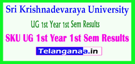 Sri Krishnadevaraya University UG 1st Year 1st Sem Results