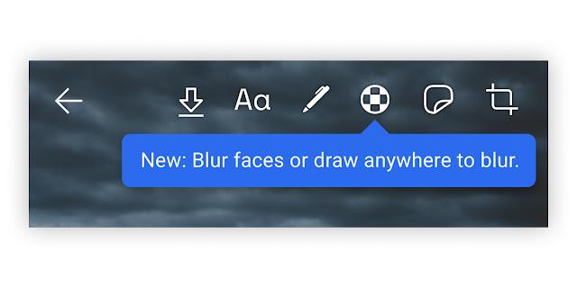 Blur toolbar