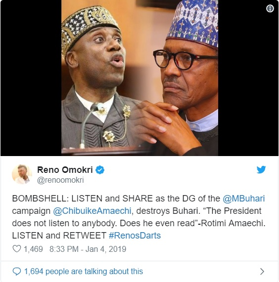 PDP Mocks Buhari Over Leaked #AmaechiTape