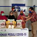 BRI KCP Singkil dan FK-IJK Salurkan Bantuan Sembako Untuk Warga Terdampak Covid-19, Kapolsek Gunung Meriah Sampaikan Apresiasi