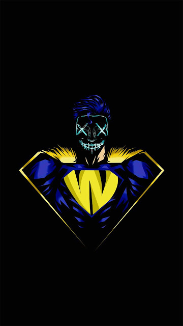 24 Art Mask Neon Wallpapers HD 5K for iPhone and Android